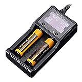 Fenix Cargador are-A2 de Dos vías Digital múltiples baterías. 10440,14500,16340,18650, 21700, 26650, AA, AAA Chargeur de Batterie Externe Mixte, Multicolore, Taille Unique