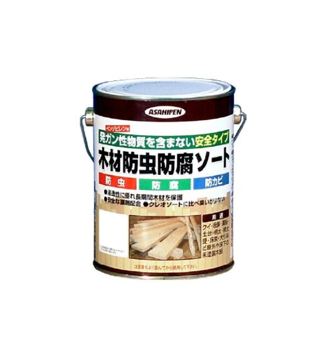 毒液深い無条件アサヒペン 木材防虫防腐ソート 1L グリーン