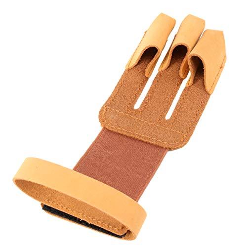 VORCOOL - Guantes de protección de Manos para Tiro al Aire Libre con Arco, Caza, Tiro 3, Color marrón