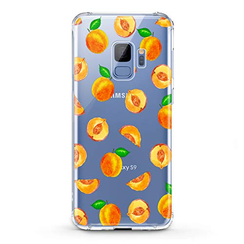 Lex Altern TPU Case Compatible for Samsung Galaxy A90 5G A11 A12 A50 A01 A20 A10s Print Pattern Women Girls Teen Smooth Cover Clear Phone Kids Slim fit Fruit Soft Lightweight Design Art Peach Lux