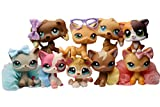 LPSUS LPS Shorthair Cat #2291 #1170 #525 #339 #391 Kitty #339 LPS Husky #1013 LPS Cocker Spaniel #748 #960 Dogs Puppy Figure Collection Kids Gift 9 PCS