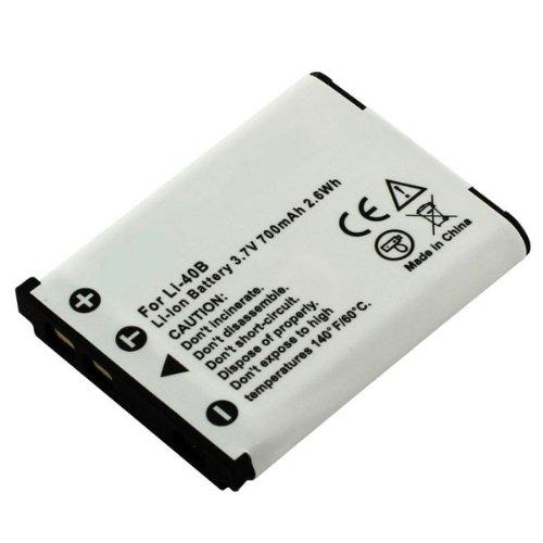 Premium Akku für OLYMPUS LI-40B, LI-42B, Fuji NP-45 (700mAh / 2,6Wh)