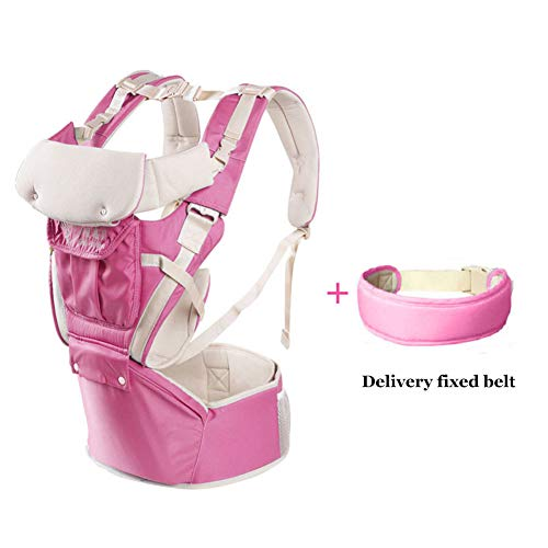 360 Ergonomic Baby Carrier Soft Baby Sling Adapt to Infant Hiking Backpack Carrier for Best Baby Gift-Pink