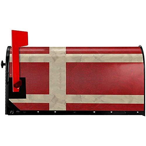 Postfachabdeckungen mit dänischer Flagge Haltbare magnetische Briefkastenabdeckungen Anti-Fading Post Letter Box Cover