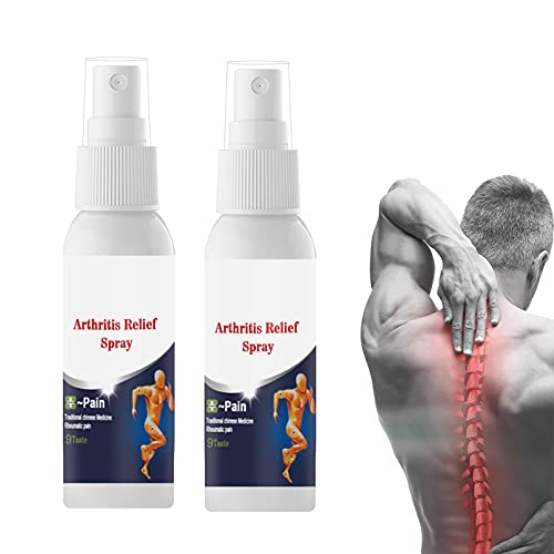 tgbn 2Pcs 50ml Arthritis Relief Spray, Rheumatism Knee Shoulder Muscle Joint Pain Ease Balm, Professional Pain Relief Spray