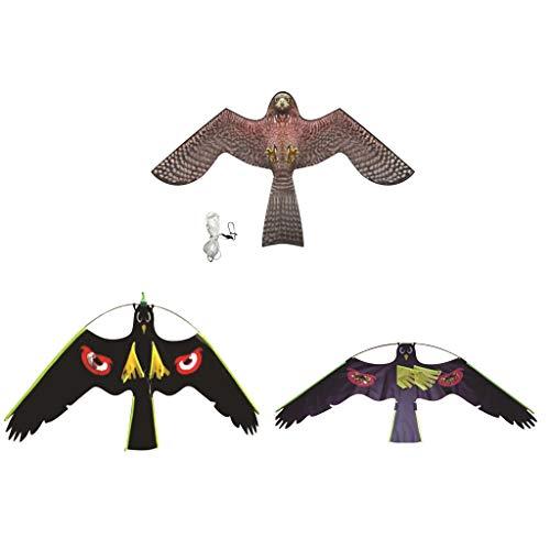 3 Stücke Hawk Kite Kits Vogel Scarer Schützen Bauern Crops mit Freien Linie