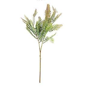 Silk Flower Arrangements HETHYAN Artificial Milan Plant Leaves Fake Eucalyptus Silk False Leafs Green Simulation Tree Foliage for Garden Home Decor (Color : 66cm Fern 2)