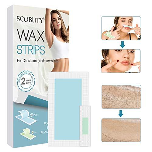 Wachsstreifen Haarentfernung,Wachsstreifen,Kaltwachsstreifen,Wachsstreifen Gesicht,Beine und Körper,Haarentfernungsstreifen aus Kaltem Wachs für Alle Hauttypen