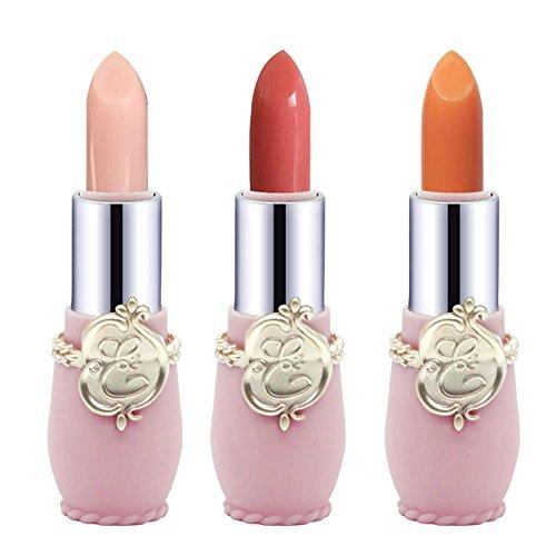 MORCHAN 3PCS Beauté Bright Crystal Jelly Rouge à lèvres Lip Température Magique Changer la Couleur