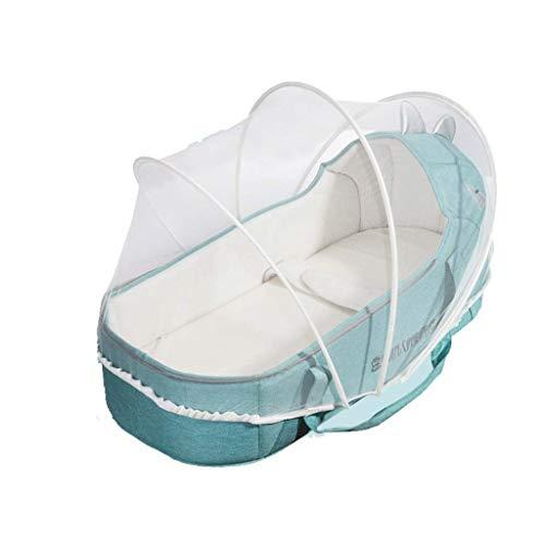 Tyui Neugeborenes Baby Stubenwagen Portable Travel Infant Lounger Sleeper Krippe mit Baldachin Belastbarkeit Baumwolle faltbar (Color : M)