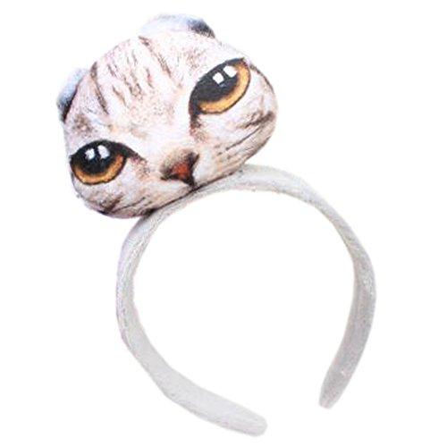 Fille Sweet Cute Cat coiffure bande de cheveux bandoulière bande bande antislip bandeau, Fold Ear Cat