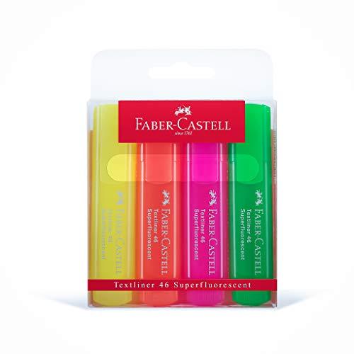 Faber-Castell 154604 - Textmarker TEXTLINER 1546, 4er Etui,