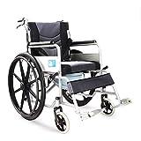 XYW Silla de Ruedas - Tubo de Acero Espesado Plegable de 3 Piezas con Inodoro para el Anciano para discapacitados Scooter Silla de Ruedas (Size : #8)