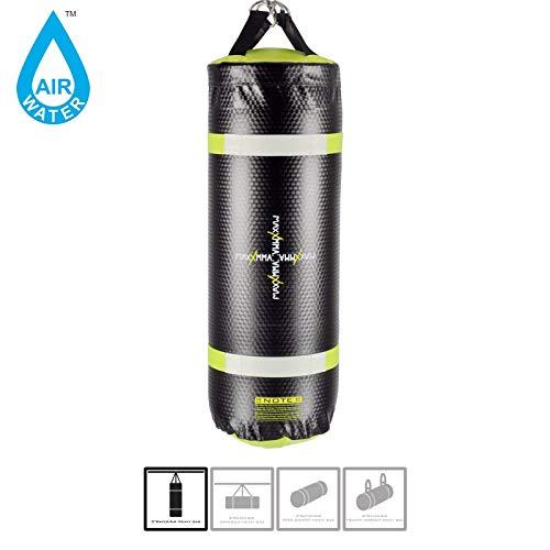 MaxxMMA Training amp Fitness Water/Air Heavy Bag Uppercut Workout Grappling MMA Punching Bag Black/Neon Yellow
