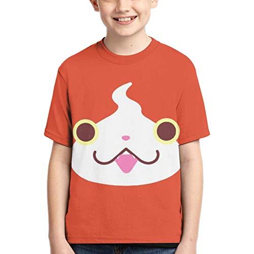 XCNGG Niños Tops Camisetas Boy T-Shirt Yo-Kai Watch 3D Printed Teenage Youth Boys Girls Short Sleeves X-Small