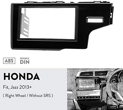 ZGYQGOO 11-508 Trim Fascia Autoradio-Montagesatz für Honda Fit, Jazz 2013+