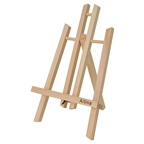 Artina Display Easel Manchester Small Wooden Table Easel Tabletop Stand for Kids & Adults - Art Easel