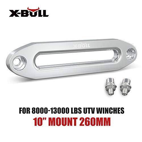 "X-BULL Universal 10"" Synthetic Winch Rope Cable Aluminium Hawse Fairlead 8000-13000LBS Winch"
