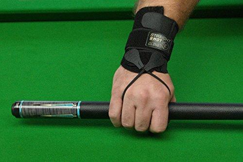 Dynamic Billard Trainingshandschuh Straight Shot Glove, Schwarz Billardhandschuh, M