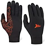 KastKing Morning Frost Liner Gloves Thermal Touch Screen Glove Liners, Running Gloves for Men And Women, Large