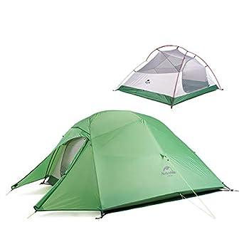 Naturehike Cloud-up 3 Tente de Camping Ultra-légère pour 3 Personnes - Tente de Randonnée Double Couche Imperméable 4 Saisons(Vert)