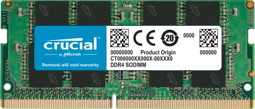 Crucial CT16G4SFD832A CT16G4SFD832A 16Go DDR4, 3200 MT/s, PC4 25600, CL22, Dual Rank x8, SODIMM, 260 Pin Mémoire