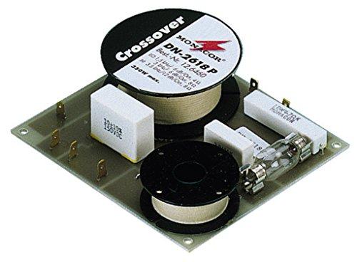 MONACOR DN-2618P 2-Wege-Weiche 8 ohm, Hochwertige Bauteile, Belastbarkeit für den Innenbereich mit Folienkondensatoren gefertigt, 350W
