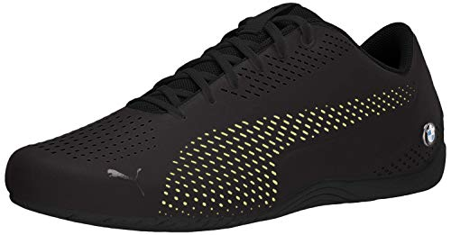 PUMA BMW MMS Drift CAT 5 Ultra Sneaker, Black-Fizzy Yellow, 10.5 M US