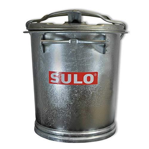 Mülltonne Stahl verzinkt SULO SME Retrodesign Abfalltonne Asche Tonne Eimer (22425 - SULO SME 25 Stahlblech)