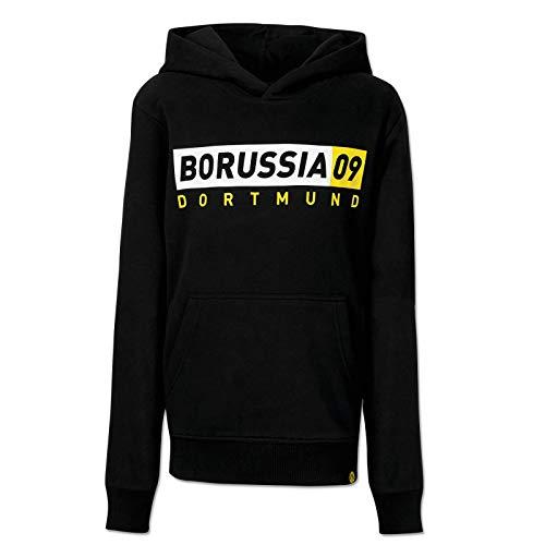 BVB-Borussia09-Basic-Hoodie Kinder Schwarzgrau 140