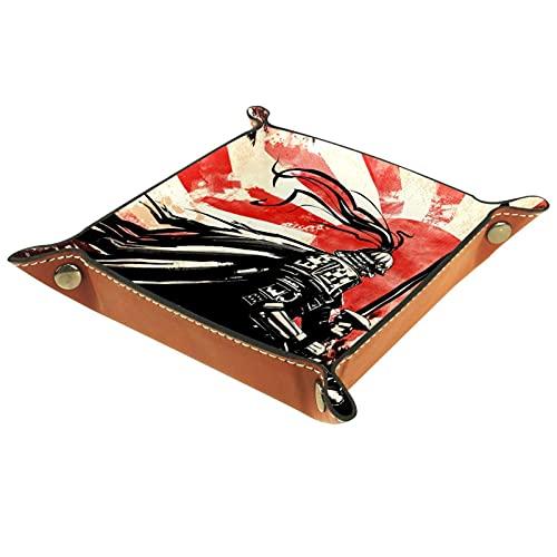 YATELI Caja de Almacenamiento pequeña, Bandeja de Valet para Hombre,Caballero General,Organizador de Cuero para Llaves de Caja de Monedas