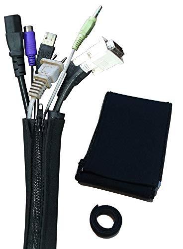 配線 収納 テレビ パソコン ケーブル整理カバー 切断可能 ペット電線かじり防止 ワンタッチ結束ベルト 約1m分 2枚セット