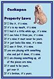 Magnetsandhangers Cockapoo - Novelty Dog Fridge Magnets - Property Laws