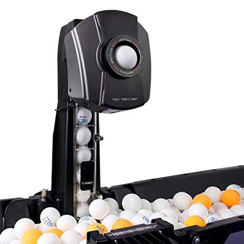 Polyer 50W automatische Tischtennisballmaschine Ping-Pong-Ball-Trainingsroboter Tischtennis-Roboter mit Ballnetz, 360 ° verstellbare Ping-Pong-Ball-Maschine Sportausrüstung, für das Training