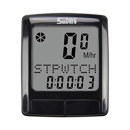 Suudada Fahrrad-Tachometer Wasserdichtes Digitales LCD-Display Stoppuhr Computer-Stoppuhr Fahr-Tacho Kilometerzähler Sport-Timer-1Pc_Vereinigte Staaten