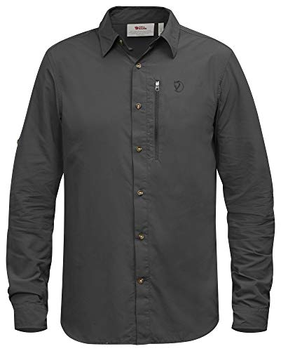 FJÄLLRÄVEN Herren Abisko Hike Longsleeve Shirt, Dark Grey, L