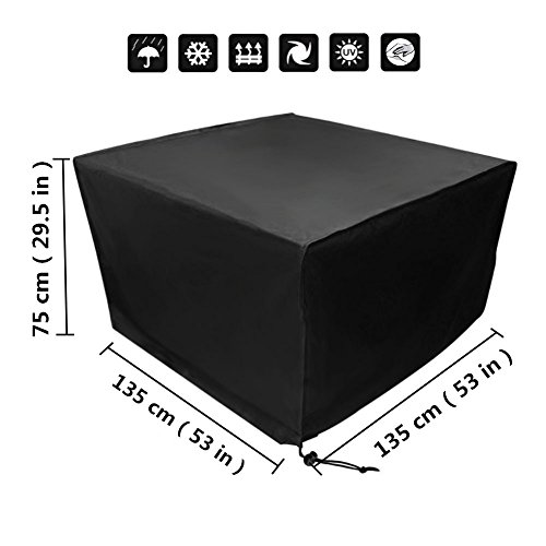 Nero XXYANZI Copertura Mobili Giardino Impermeabile 86x86x36cm Quadrato Copertura per Tavolo da Pranzo Impermeabile Protezione Solare per Sedie Esterno Giardino