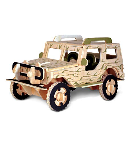Puzzled Jeep 3D Jigsaw Woodcraft Kit Wooden Puzzle