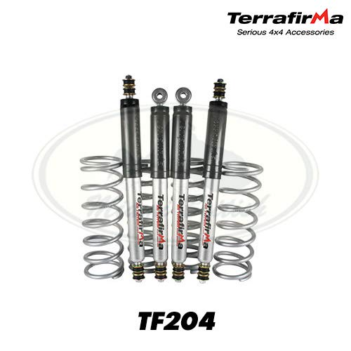 Terrafirma Heavy Load All-Terrain Shock and Coil Spring Suspension Kit TF204 for Land Rover Defender 90, Discovery 1, and Range Rover Classic (Adds 2 inch lift)