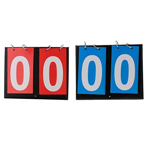 lahomia 2 marcadores de mesa portátil para baloncesto y fútbol deportivo