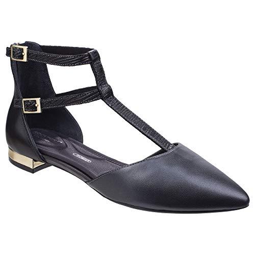 Rockport Femmes Adelyn T-Strap Chaussures Plates Cheville Noir 37