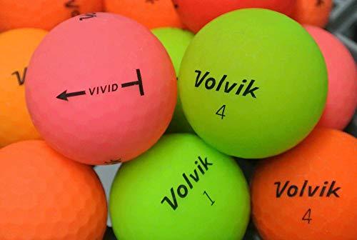 lbc-sports Volvik Vivid - Palline da Golf Colorate opache AAAA/AAA Lakeballs, 36 Bälle