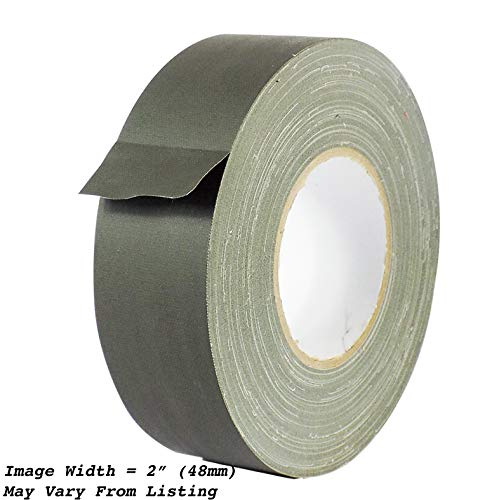MAT Gaffer Tape Olive Drab Low Gloss Finish Film, 3 inch x 60 Yards, Residue Free, Non Reflective, Secure Cords to Stages, Great for Concerts or Trade Shows, Weddings, Floor Marking