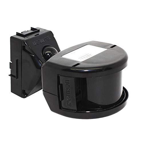 Sensor de Presença Frontal 180°, Exatron, Articulável, Bivolt, Externo, Preto