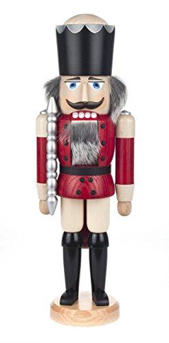 Nussknacker Figur König rot-natur von DREGENO SEIFFEN 39 cm – Original erzgebirgische Handarbeit, stimmungsvolle Weihnachts-Dekoration