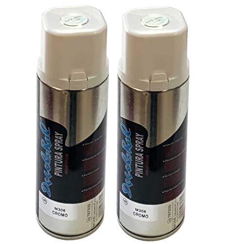 Acan Montoro - Pack de 2 Botes de Pintura en Spray Cromo M306 400 ml