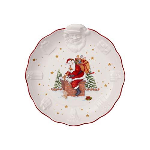 Villeroy & Boch Toys Fantasy Schale mit Santa Relief, Premium Porzellan, weiß, bunt, Mittel