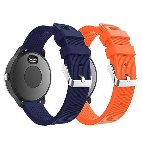 YPSNH Bracelet de rechange en silicone souple réglable pour Garmin Vivoactive 3/Samsung Galaxy Active/Galaxy Watch 42 mm