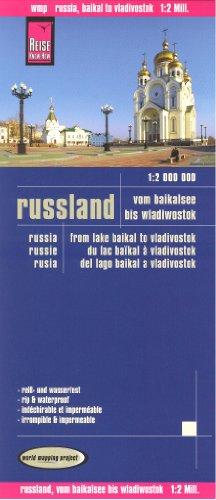 El Este de Rusia (lago Baikal hasta Vladivostok) 1:2.000.000 Mapa de Viaje, resistente al agua, compatible con GPS, edición de 2012, Reise