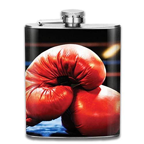 Boxhandschuhe Flachmann für Alkohol Edelstahl Flasche Alkohol 7 Unzen